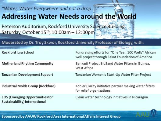 Addressing Water Needs around the World