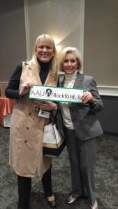 VP Christine Haeggquist with Lilly Ledbetter/Honored speaker Lilly Ledbetter