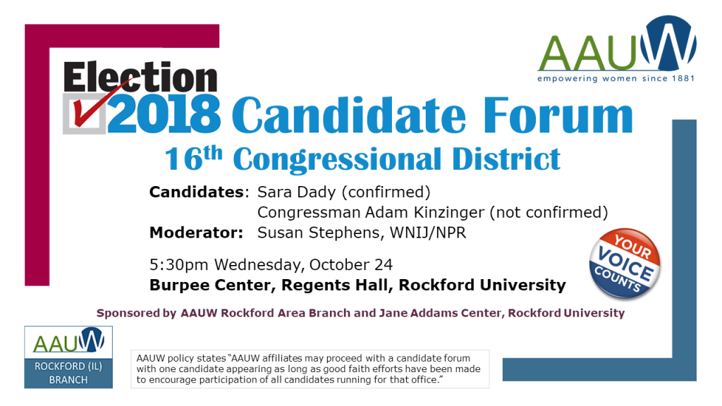 Candidate Forum - 16th Congressional District @ Rockford University, Regents Hall in Burpee Center | Rockford | Illinois | United States