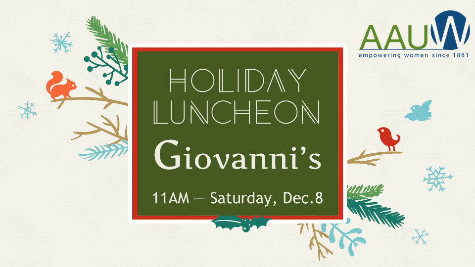 Plan to join us for this year's Holiday Luncheon.