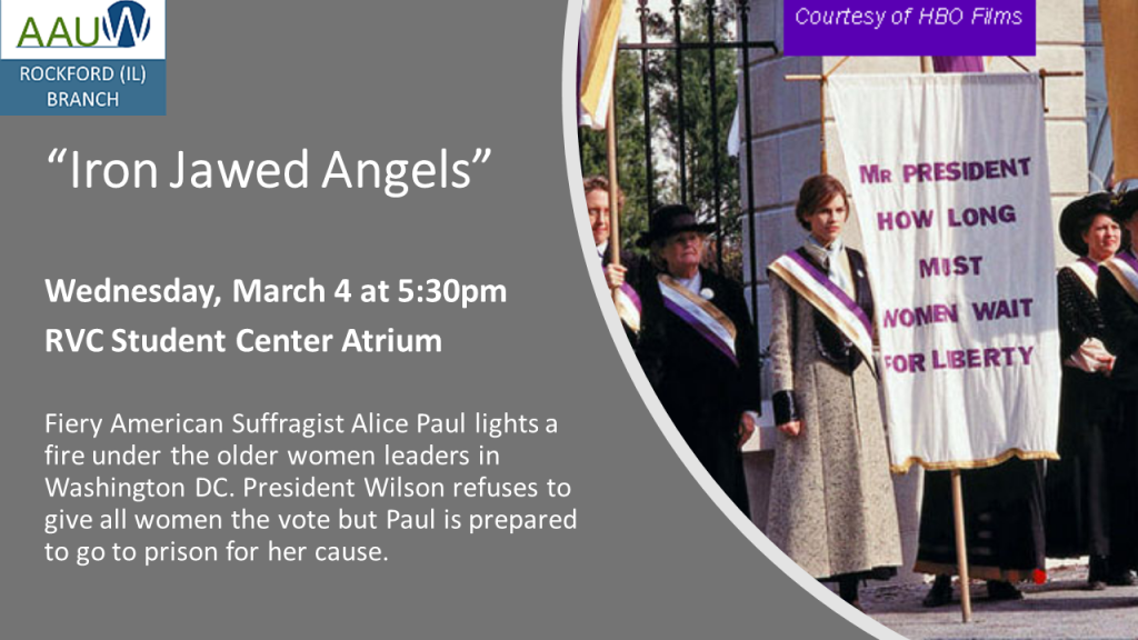 Event notice - Iron Jawed Angels