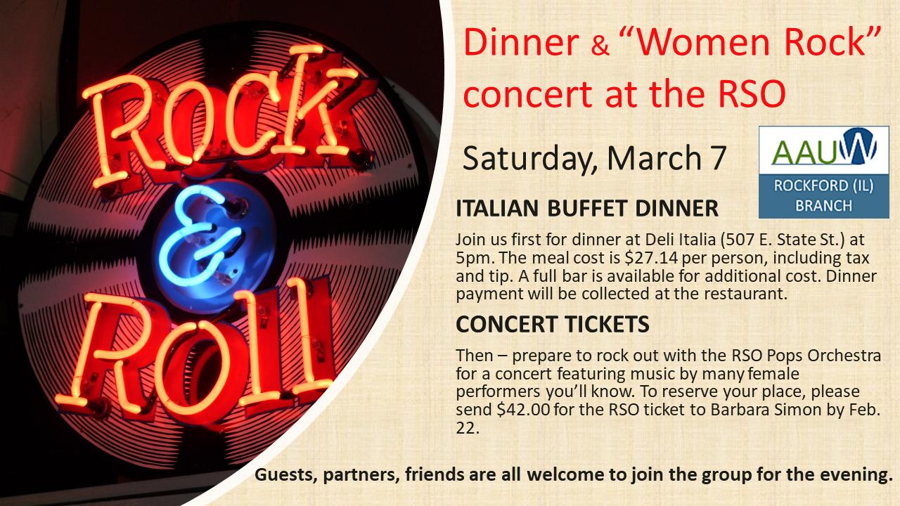 Event notice - RSO Rock & Roll March 7